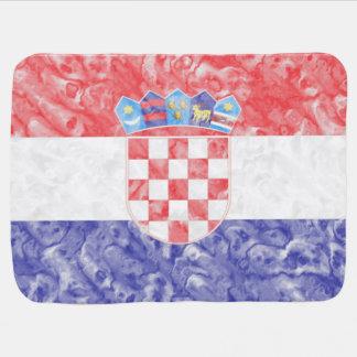 Croatian Flag Swaddle Blanket