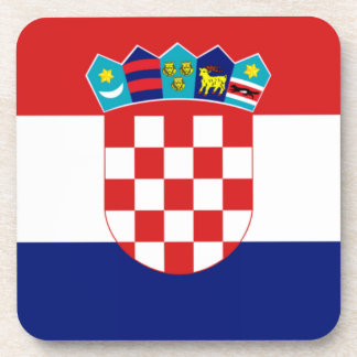 Croatian flag - Trobojnica Beverage Coaster