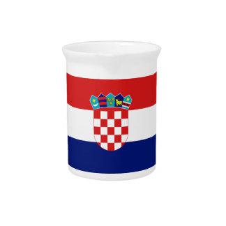 Croatian flag - Trobojnica Beverage Pitcher