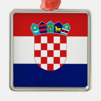Croatian flag - Trobojnica Metal Ornament