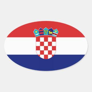 Croatian flag - Trobojnica Oval Sticker