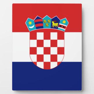 Croatian flag - Trobojnica Plaque