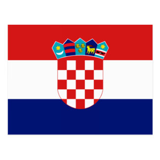 Croatian flag - Trobojnica Postcard