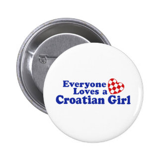 Croatian Girl Button