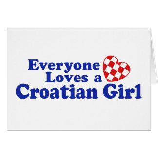 Croatian Girl Greeting Card