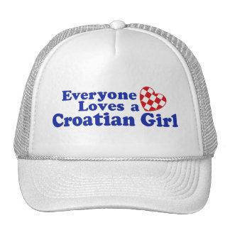 Croatian Girl Trucker Hat