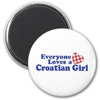 Croatian Girl Fridge Magnets