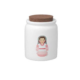 Croatian Girl Matryoshka Candy Jar