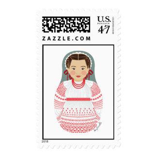 Croatian Girl Matryoshka Stamps