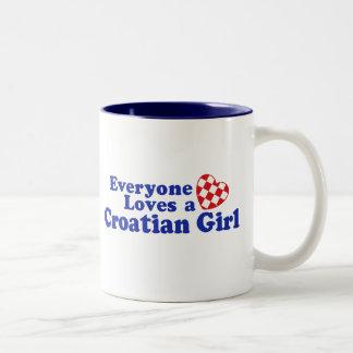 Croatian Girl Two-Tone Coffee Mug