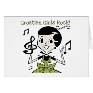 Croatian Girls Rock Greeting Card