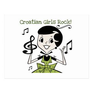Croatian Girls Rock Postcard
