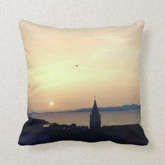 Croatian Island Sunset Throw Pillow