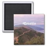 Croatian Landscape 2 Inch Square Magnet
