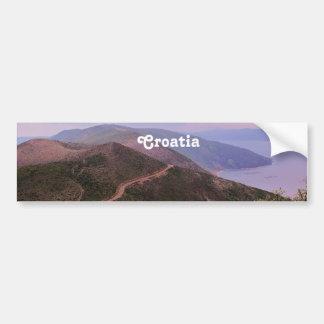 Croatian Landscape Bumper Sticker
