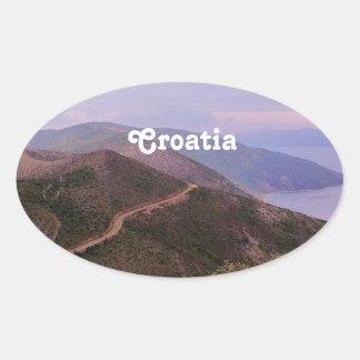 Croatian Landscape Oval Sticker