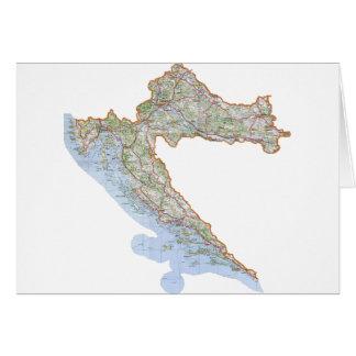 Croatian map card