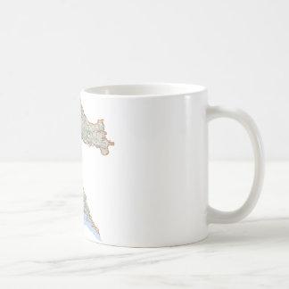 Croatian map coffee mug
