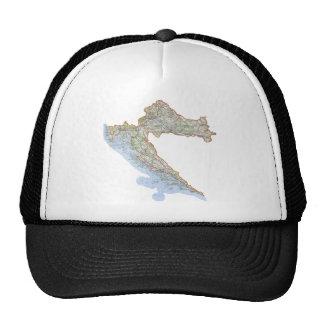 Croatian map trucker hat