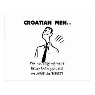 Croatian Men Are Best Postcard