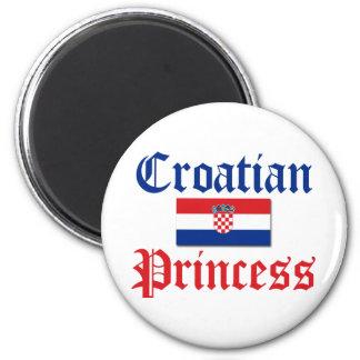 Croatian Princess 1 Magnets