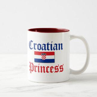 Croatian Princess 1 Two-Tone Coffee Mug