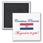 Croatian Princess 2 Inch Square Magnet