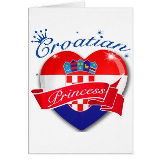 Croatian Princess Greeting Card