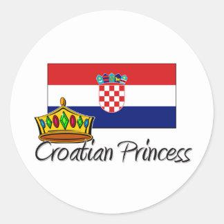 Croatian Princess Sticker