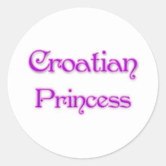 Croatian Princess Stickers