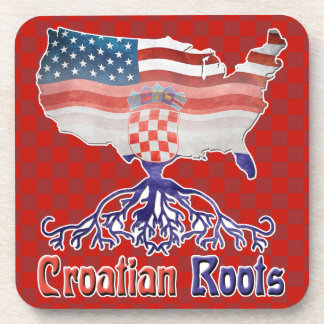 Croatian Roots Amerian Croat Coaster Set
