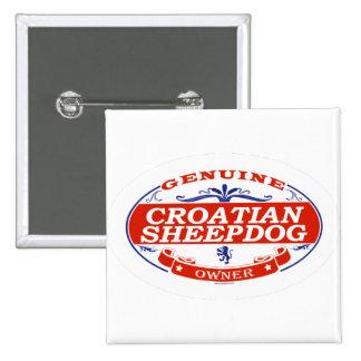 Croatian Sheepdog  2 Inch Square Button