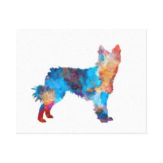 Croatian Sheepdog in watercolor Canvas Print