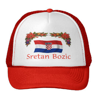 Croatian Sretan Bozic (Merry Christmas) Trucker Hat