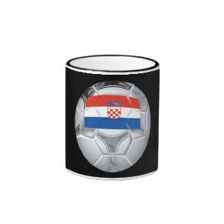 Croation Soccer Ball Ringer Coffee Mug
