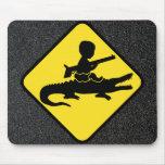 Croc Baby Hazard Mousepad