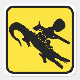 Croc Baby Hazard Square Sticker