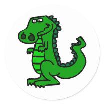 croc classic round sticker