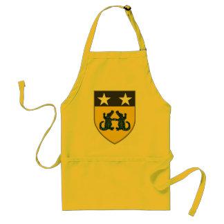 croc coat of arms adult apron
