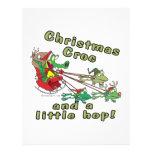 croc del navidad ranas y cocodrilo pequeñas de un  tarjeta publicitaria