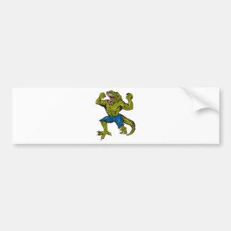 Croc estupendo pegatina de parachoque