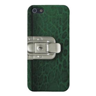 Crocdile finish clasped case design, hunter case for iPhone 5