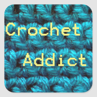 Crochet Addict Part2 Double Crochet Square Sticker