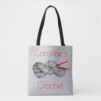 Crochet and yarn, crafts, with your name tote bag