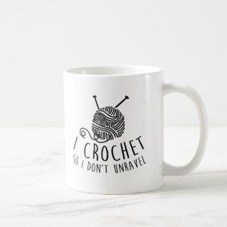 Crochet así que no desenredo taza de café