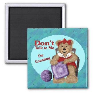 Crochet Bear 2 Inch Square Magnet