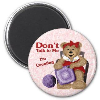 Crochet Bear 2 Inch Round Magnet