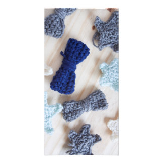 Crochet Bows and Stars Card