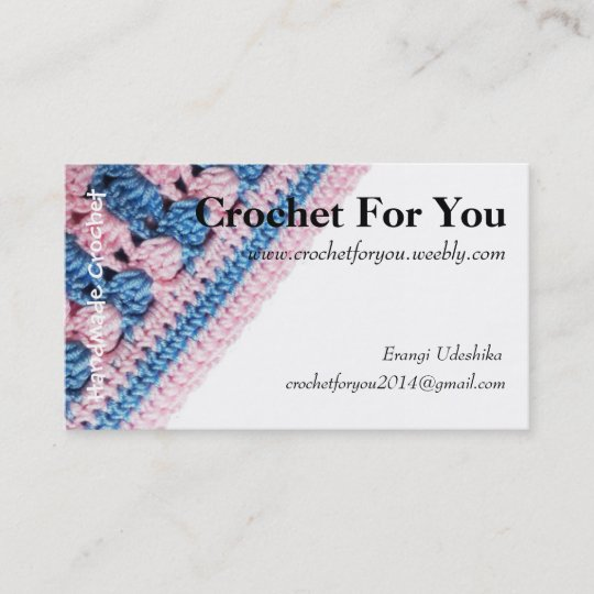 Crochet Business Card With Real Crochet Texture Zazzlecom