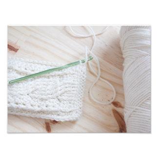 Crochet Cables Photo Print